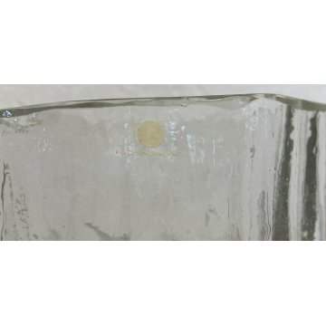 VASO VETRO TAPIO WIRKKALA ANNI 60/80 MADE IN FINLANDIA GLASS VASE 3546 DESIGN