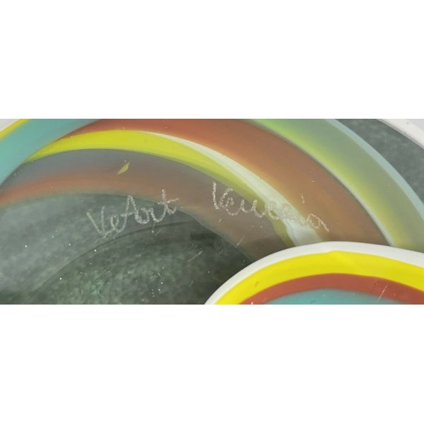 VEART VENEZIA POSACENERE VASO DESIGN MURANO SVUOTATASCHE made in Italy ashtray